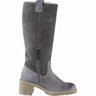 BLK Blackstone stylishe Damen Leder Stiefel grau, 33 cm Schaft, molliges Warm...