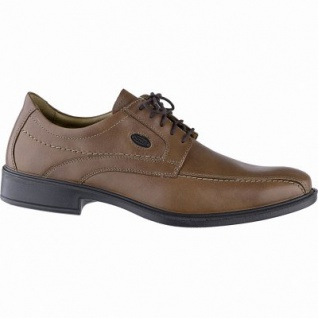 Jomos komfortable Herren Business Leder Halbschuhe cognac, Lederfutter, herausnehmbares Fußbett, Luftpolstersohle, 2141141/44