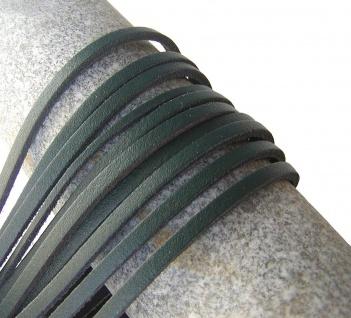 10 Stück Docksider Vierkant Rindleder Lederriemen dunkelgrün, Länge 120 cm, S...