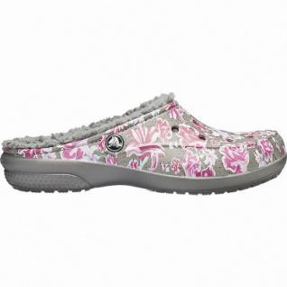 Crocs Freesail Graphic Clined warme Damen Winter Clogs multi floral, Warmfutter, flexible Laufsohle, 4341107