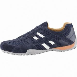 Geox sportliche Herren Leder Slipper navy, Antishock, chromfrei, herausnehmbares Fußbett, 2042106/40