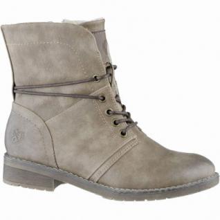 Jane Klain sportliche Damen Synthetik Boots stone, molliges Warmfutter, 1639189