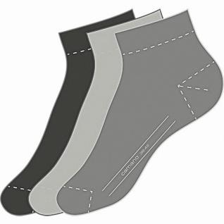 Camano Basic NOS Ca-Soft Quarter 3er Pack Damen, Herren Socken grey