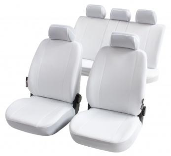 Komplett Set Universal Polyester Auto Sitzbezüge Nerja weiss 8-teilig, 30 Gra...