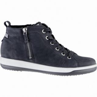 Jenny Miami modische Damen Synthetik Sneaker Boots schwarz, Comfort Weite G, Warmfutter, Leder Fußbett, 1739136/37