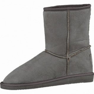 Canadians coole Damen Winter Velour-Synthetik Boots taupe, molliges Warmfutter, 1637257/41