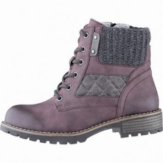 Jana modische Damen Leder Imitat Winter Boots bordeaux, Extra Weite H, molliges Warmfutter, warme Decksohle, 1741174/36