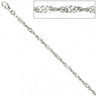 Singapurkette 925 Silber 2, 9 mm 45 cm Halskette Kette Silberkette Karabiner - Vorschau 4