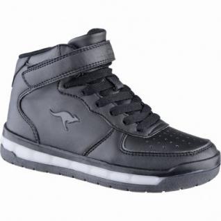 Kangaroos K-Lid coole Jungen Synthetik Sneakers black, weiches Fußbett, Laschen Tasche, 3339104