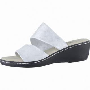 best sneakers 7709e e18d2 Jana stylishe Damen Leder Pantoletten silver, Jana Comfort Fußbett, Weite  G, 1540120/41