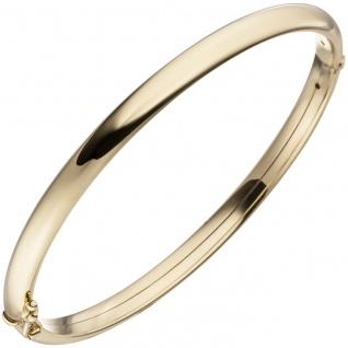 Armreif Armband oval mit Scharnier 375 Gold Gelbgold Goldarmband Goldarmreif