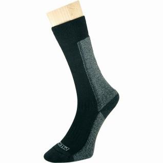 Meindl Damen, Herren Trekking Socken schwarz, Cool Max mit Baumwolle