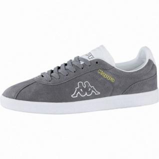 Kappa Legend coole Damen Velour Sneakers grey, weiche Sneaker Laufsohle, 4240116/37