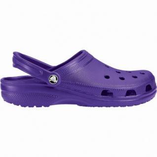 Crocs Classic coole Damen Clogs ultraviolet, Massage-Fußbett, Belüftungsöffnungen, 4340106/36-37