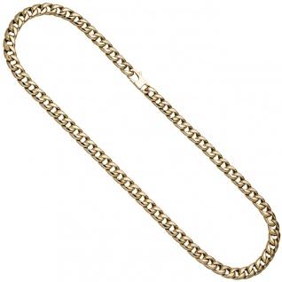 Panzerkette 585 Gold Gelbgold 50 cm Kette Halskette Goldkette Karabiner