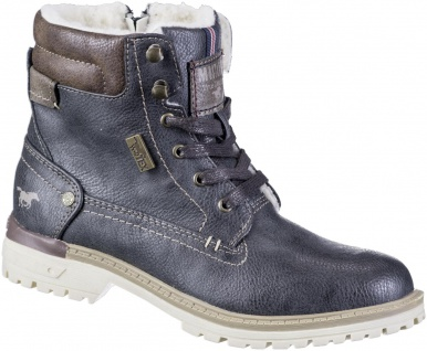 MUSTANG Jungen Winter Synthetik Tex Boots graphit, Warmfutter, warme Decksohle