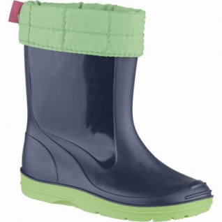 Beck Basic Mädchen, Jungen Winter PVC Stiefel blau, herausnehmbares Warmfutter, 5039103/37