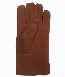 Damen Fingerhandschuhe Lammfell camel, Fellhandschuhe camel, Größe 8 - Vorschau 2