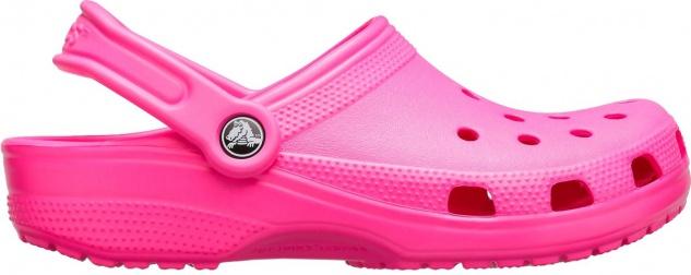 CROCS TM SHOES Classic Clog, Damen Clogs electric pink, Massage Fußbett