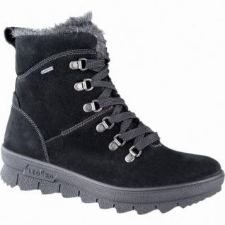 Legero Damen Leder Winter Stiefel schwarz, 13 cm Schaft, Warmfutter, warmes Fußbett, Gore Tex, Comfort Weite G, 1741134/4.0
