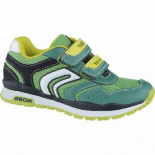 Geox sportliche Jungen Synthetik Sneakers green, Geox Leder Fußbett, 3338146