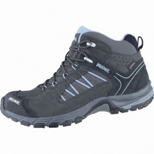 Meindl Journey Lady Mid GTX Damen Leder Mesh Outdoor Schuhe anthrazit, Air-Active-Wellness-Sport-Fußbett, 4438166/6.0