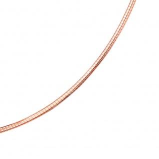 Halsreif 585 Rotgold 1, 8 mm 42 cm Gold Kette Halskette Rotgoldhalsreif Karabiner