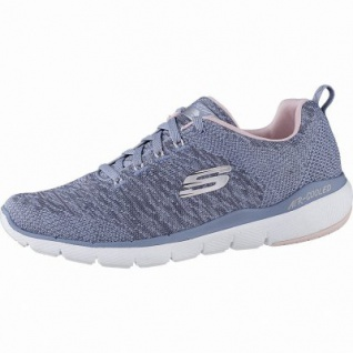 Skechers Flex Appeal 3.0 coole Damen Strick Sneakers slite pink, Air-Cooled-Memory-Foam-Fußbett, 4142119/36