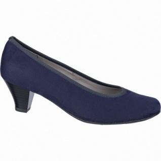 Jenny Auckland klassische Damen Synthetik Pumps blau, Leder Fußbett, Comfort Weite G, 1142111/36