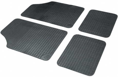 Universal Komplett Set Basic Plus Auto Gummimatten schwarz 4-tlg., Anti Slip,...