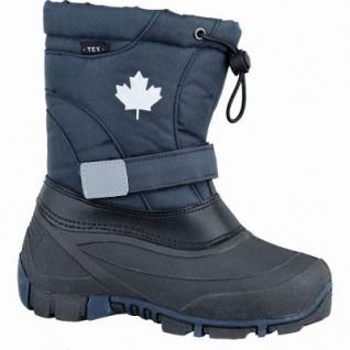 Canadians Mädchen und Jungen Winter Synthetik Tex Boots navy, Warmfutter, weiches Fußbett, 4537116/33