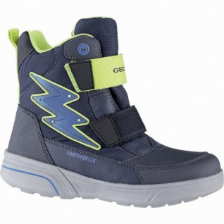 Geox Jungen Synthetik Winter Amphibiox Boots navy, 12 cm Schaft, molliges Warmfutter, Thermal Insulation, 3741119/33
