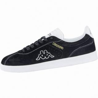 Kappa Legend coole Damen Velour Sneakers black, weiche Sneaker Laufsohle, 4240117/41
