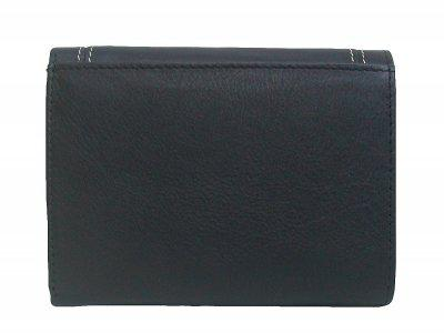 Dolphin handliche Damen Leder Geldbörse schwarz, 8xCC, 1 Scheinfach, viele Fächer, ca. 13x9, 5 cm - Vorschau 2