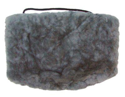 warmer Lammfell Pelzmuff grau ca. 28x20 cm, waschbar, mit Reißverschlusstasche