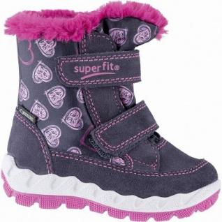 Superfit Mädchen Leder Lauflern Tex Boots blau, mittlere Weite, molliges Warmfutter, herausnehmbares Fußbett, 3241110/23