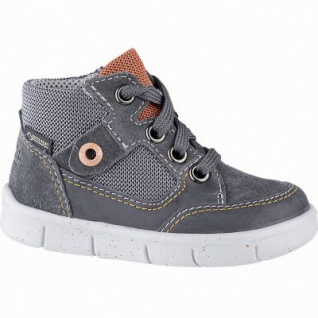 Superfit coole Jungen Leder Lauflern Sneakers grau, Tex Ausstattung, mittlere Weite, herausnehmbares Fußbett, 3141101/21