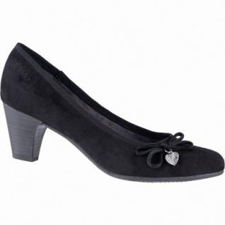 s.Oliver modische Damen Velourleder Imitat Pumps schwarz mit Verzierung, weich gepolstertes Fußbett, 1041102/37
