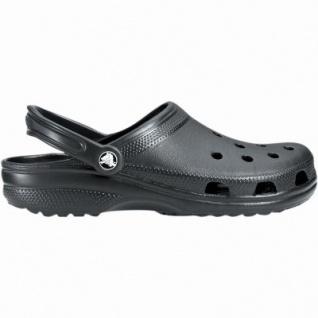 Crocs Classic Clog leichte Damen, Herren Clogs schwarz, Massage Fußbett, 4330117/45-46