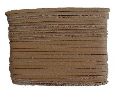weiches Leder Flechtband Ziegenleder auf Karte hellbraun, Länge 10 m, Breite ...