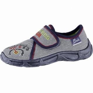 Beck High Speed Jungen Textil Hausschuhe blau, weiche Laufsohle