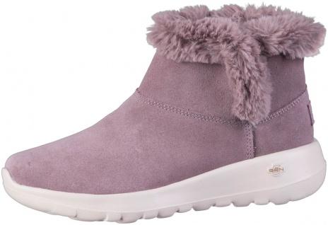 SKECHERS On The GO Joy-Bundle Up Damen Leder Boots lila, Skechers Air Cooled ...