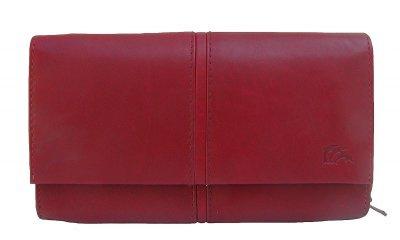 Dolphin exklusive große Damen Leder Börse dunkelrot, 9xCC, 3 Scheinfächer, RV-Münzfach, ca. 18x10, 5 cm