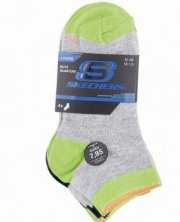 Skechers Basic NOS Quarter Boys Jungen Socken fog, 4er Pack Skechers Jungen Socken grau, 6539121/27-30