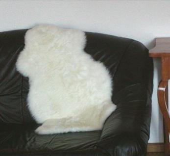 australische Lammfelle naturweiß waschbar, Haarlänge ca. 70 mm, ca. 80x60 cm