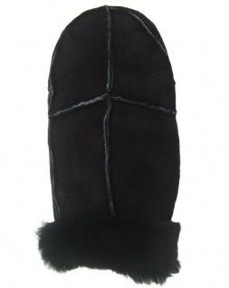 Herren Patch Fellfäustlinge schwarz, Herren Fellhandschuhe schwarz, Größe 8