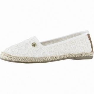 TOM TAILOR bequeme Damen Textil Slippers mit Macrame cream, Textilfutter, weiches Fußbett, 1242136/36