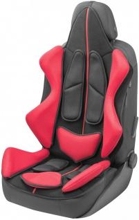 coole Universal Auto Polyester Mesh Sitzauflage X-RACE schwarz rot, 11-teilig...