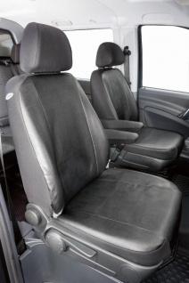Passform Sitzbezüge Mercedes Vito W638+W639, passgenauer Kunstleder Sitzbezug 2 Einzelsitze+Armlehne, ab Bj. 06/2003-05/2014