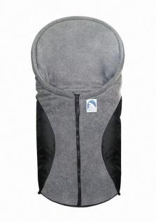 molliger Baby Winter Fleece Fußsack schwarz, für Tragschalen, Autositze, ca. ...